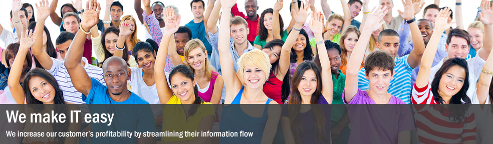 We increase our customer's profitability by streamlining their information flow